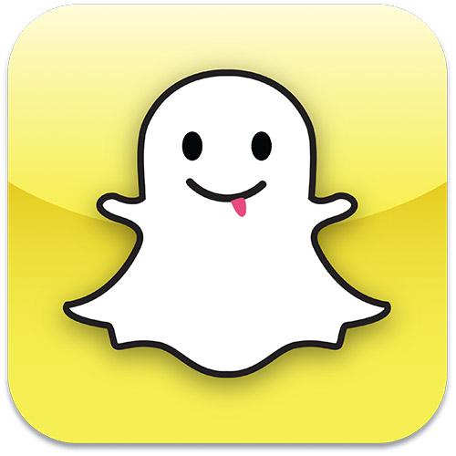 """Logo du service de partage de photo """"SnapChat"""""""