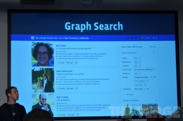 Aperçu du Graph Search