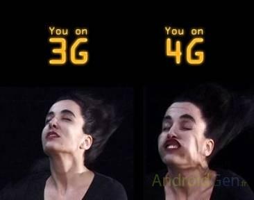 Comparatif 3G / 4G - Source : http://www.androidgen.fr/