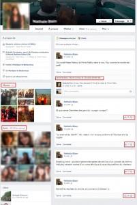 Figure 16 : Comparaison de deux profils personnels sur Facebook. - Profil 1